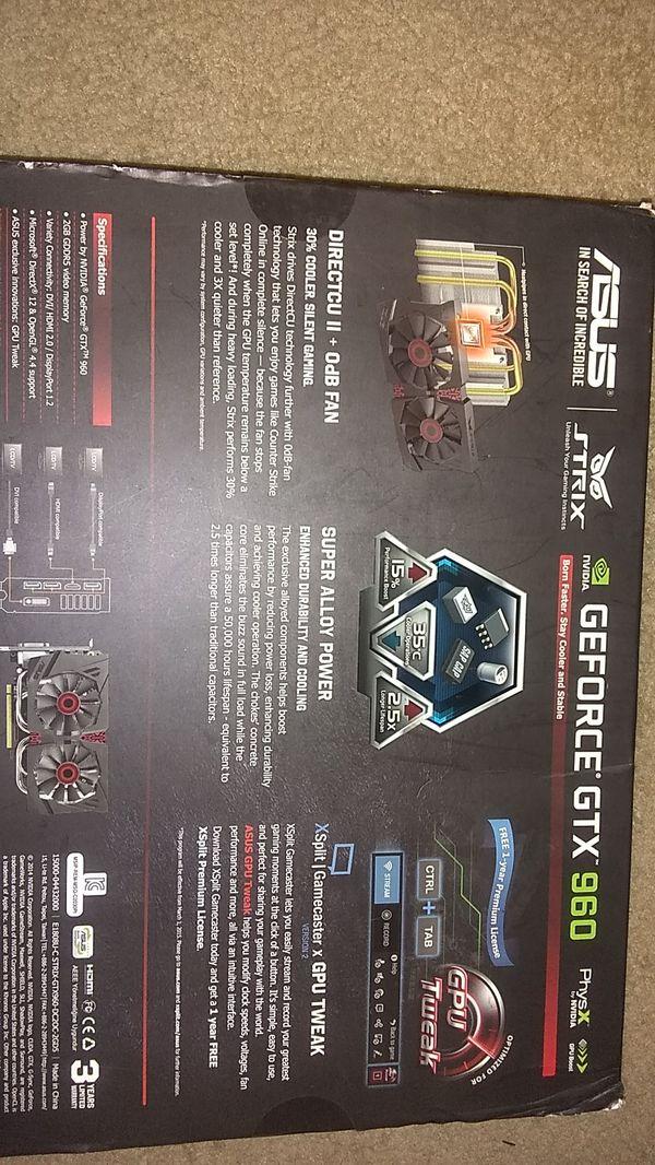 Asus GEFORCE GTX 960 2GB