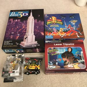 Board games puzzles pokemon toy cars power rangers for Sale in Aspen Hill, MD