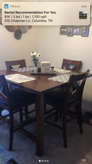 Wood dinning table and set of four dinning chairs for Sale in Lewisburg, TN