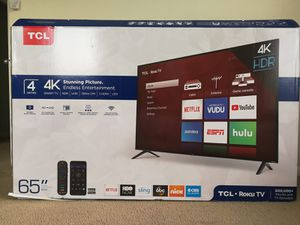 New TCL Roku 4K UHD HDR Smart TV HDTV for Sale in Austin, TX