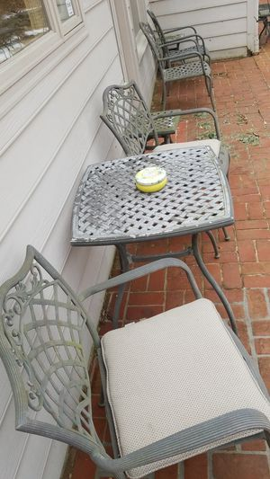 Patio furniture, 14 chairs, 3 table, 6 side tables for Sale in Rockville, MD