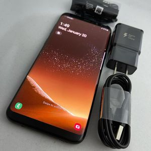 Samsung Galaxy S8 Plus 64Gb Black Color Unlocked For Any Company Good Condition Has Very Light Shadow On LCD 💯% Functional No Issues Comes with Charg for Sale in Round Rock, TX
