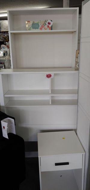 White wood twin bookcase headboard beautiful $45 for Sale in Phoenix, AZ