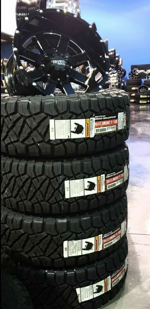 20x12 wheels & 33x12.50-20 NITTO Ridge Grappler Tires FREE INSTALLATION, for TRUCK SUV JEEP ( WE FINANNCE ) for Sale in Phoenix, AZ