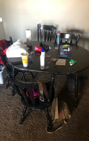 Used Table with 5 chairs for Sale in Wichita, KS