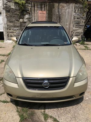 I have 2003 Nissan Altima 186 miles been my grandmothers car she kept good care of the car no engine problems just gave it a tune up and it's some mi for Sale in Philadelphia, PA