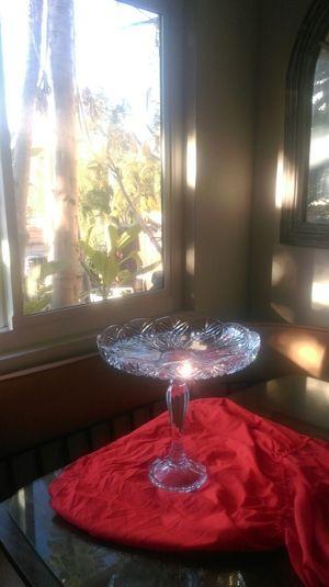 Cristal pedestal Cake Plate vintage for Sale in Orange, CA