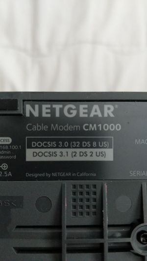 Netgear cm1000 docsis 3.1 cable modem. Works with Comcast gigabit internet for Sale in Miami, FL