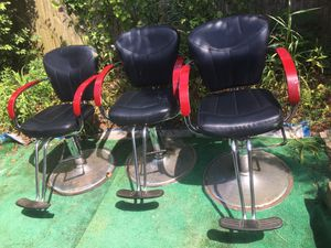 Salon chairs $75 each or $200 for all for Sale in Fairmont, WV