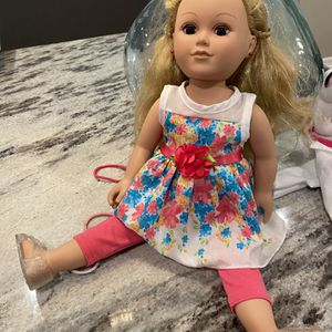 My Life Girl Doll w/backpack carrier for Sale in Pflugerville, TX