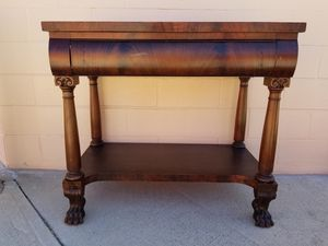 Vintage console media entryway table buffet table for Sale in Huntington Beach, CA