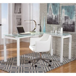 White 3pc Office Furniture Set for Sale in Los Angeles, CA