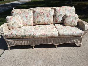Beautiful wicker couch/sofa for Sale in Seminole, FL