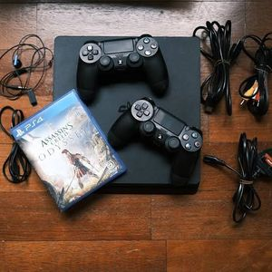 PlayStation 4 Slim With Two Controller's for Sale in Chicago, IL