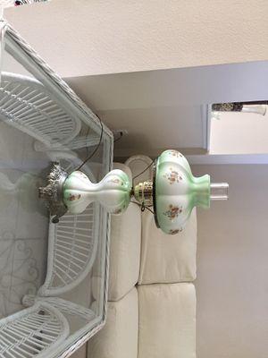 Antique floral hurricane lamp for Sale in Tarpon Springs, FL
