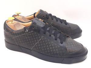 FEIT Men's Handmade Black/Gray Monogram Shoe Low Sneakers Size EU 44/US 11/UK 10 for Sale in Hayward, CA