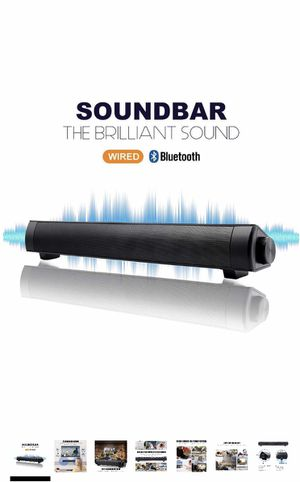Brand NEW Bluetooth Sound Bar Mini Portable Soundbar Wireless Speakers for Home Theater Surround Sound with Built-in Subwoofers for TV/PC/Phones/Tabl for Sale in Walnut, CA