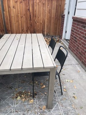 CB2 Patio Table w/2 Chairs and bench for Sale in Denver, CO