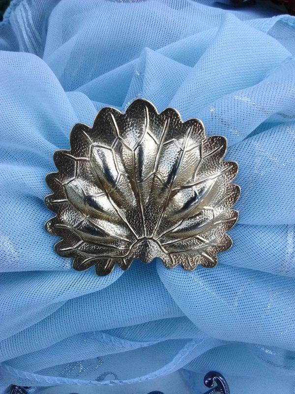 Gold Leaf Scarf Ring