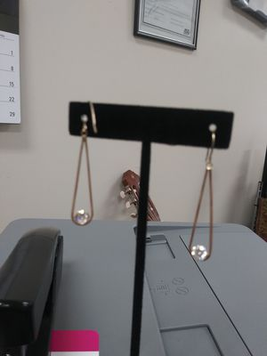 14K Lady's Earrings Lab created diamonds for Sale in Lewisville, TX