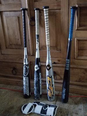 Baseball bats and elbow shield for Sale in Dallas, TX