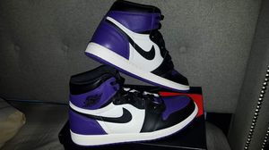Air jordan retro 1 court purple size 14 wore twice for Sale in Bronx, NY