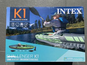 Intex challenger k1 kayak boat inflatable for Sale in Miami, FL