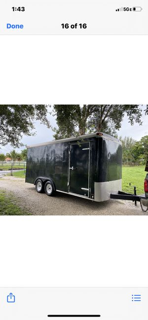 7 x 16 Custom extra tall Landscape/cargo/utility trailer with ramp clean title 👉🏾 $4500.00 firm No Less for Sale in Hollywood, FL