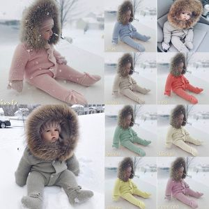 Winter Baby Fur Collar Warm Jumpsuit Baby Hoody Knit Romper Jumpsuit Outwear Pants for Sale in Goodyear, AZ