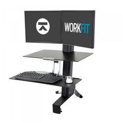 WorkFit-S Dual Desk Converter with Worksurface for Sale in Tacoma,  WA