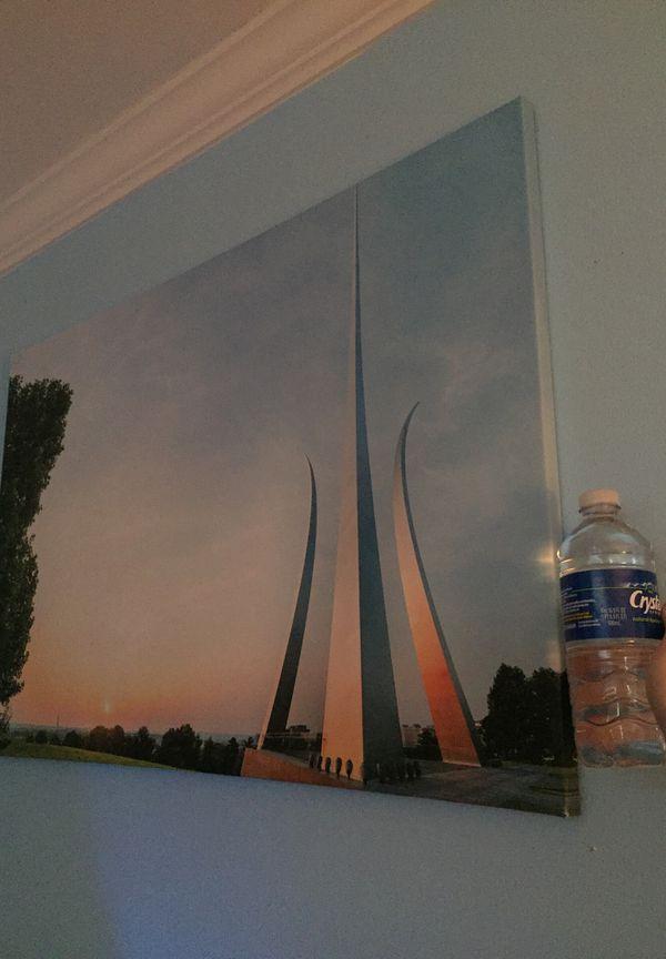 Air Force Memorial Arlington VA picture. It's a wall canvas