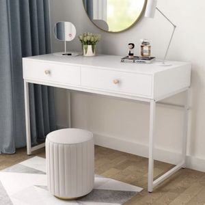 All White Table - Computer Desk - Vanity Table for Sale in Pomona, CA