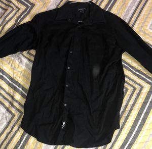 Black casual dress shirt for Sale in Leesburg, VA