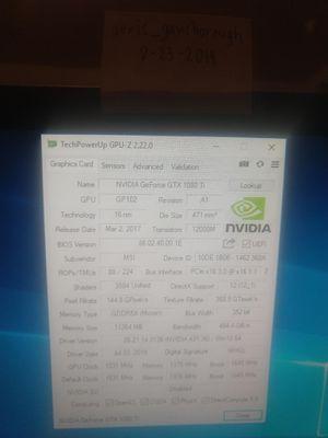 MSI GeForce GTX 1080 TI Duke for Sale in Milpitas, CA
