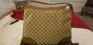 NEW~GUCCI BREE ORIGINAL GG/DOLLAR CALF/BEIGE/TABACCO LARGE BAG for Sale in Pflugerville, TX