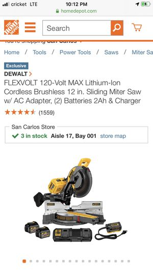 "Milwaukee Flexvolt 12"" mites saw kit for Sale in Woodside, CA"