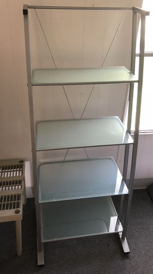 Glass media bookshelves for Sale in Saint Cloud, FL