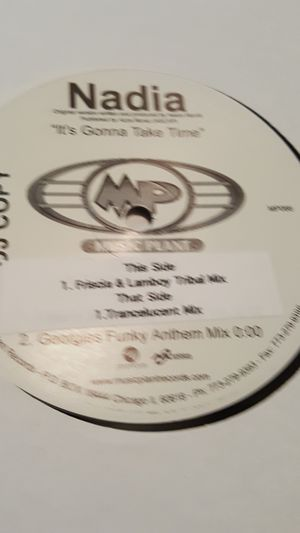 Nadia It's Going to Take Time DJ copy Vinyl Record for Sale in Federal Way, WA