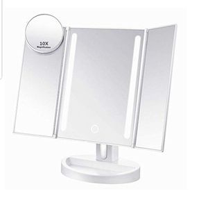 Led Lighted Makeup Mirror with 10X Magnifying, Natural LED, Touch Screen and Auto Off Dual Power Supply, 180° Adjustable NEW see photos for Sale in Silver Spring, MD
