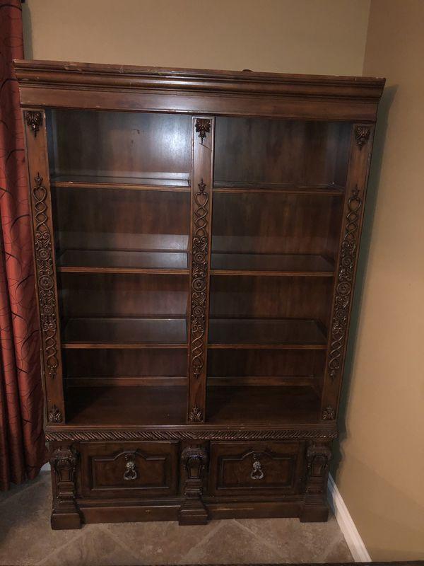 Desk And Bookshelf