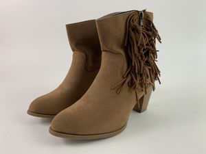 Women's Fringe Ankle Boots Size 8.5 M Brown Booties for Sale in Alpharetta, GA