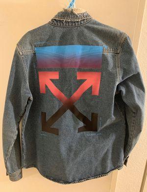 off white denim jacket for Sale in Glendale, AZ