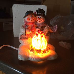 Light Up Snowman At Camp Fire for Sale in Bakersfield, CA