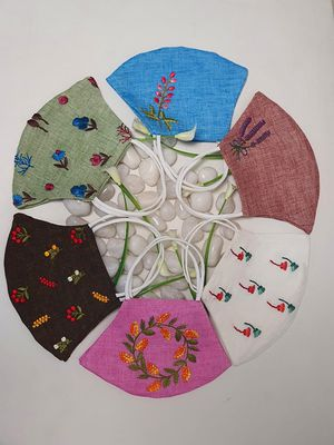 Face Masks-Hand embroidered Washable Cloth for Sale in Folsom, CA
