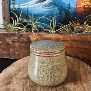 Nature Inspired Ten Thousand Villages Ceramic Butter Keeper – Cambodian Butter Crock for Sale in Auburn, WA