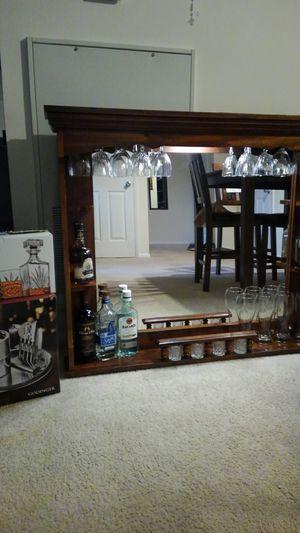 Wooden wall mount bar for Sale in Alexandria, VA