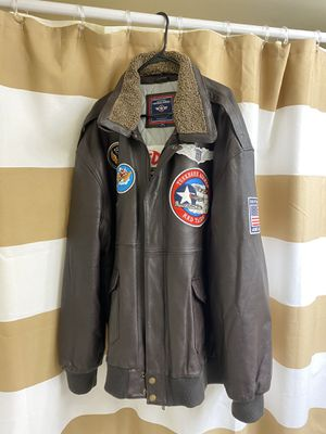 Tuskegee Airman Red Tails EXCLUSIVE Leather Jacket for Sale in Alexandria, VA