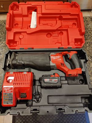 Milwaukee M18 Fuel Sawzall with Battery 2720-21 for Sale in Chandler, AZ