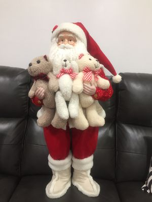 Standing Fabric 34 inch Santa for Sale in Jersey City, NJ