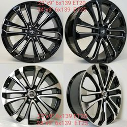 """Available 22"""" & 24"""" Toyota Wheels 6 Lug 6x139.7 for Sale in Hollywood,  FL"""